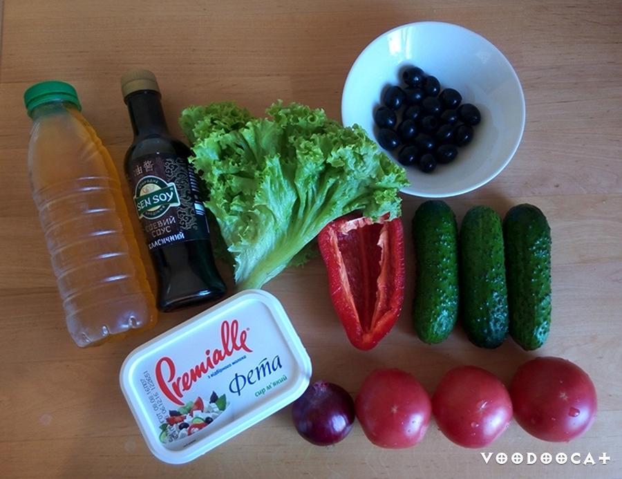 Рецепт греческого салата по-одесски пошаговый с фото