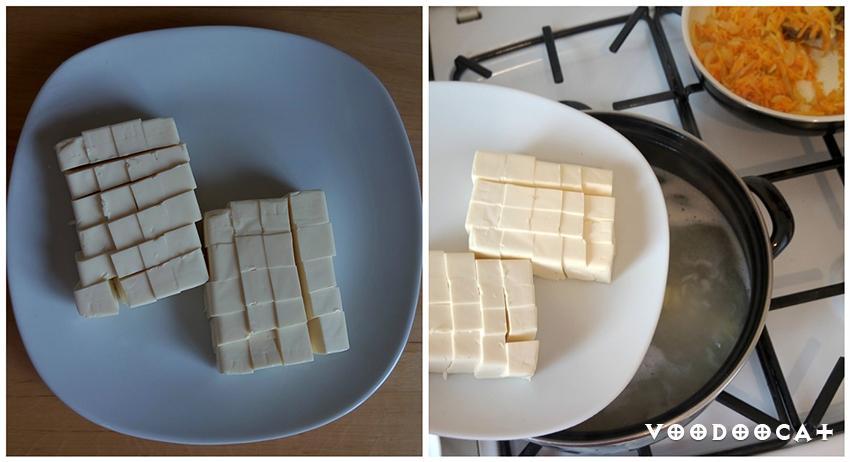 Рецепт острого сырного супа с сельдереем и рисом пошаговый с фото