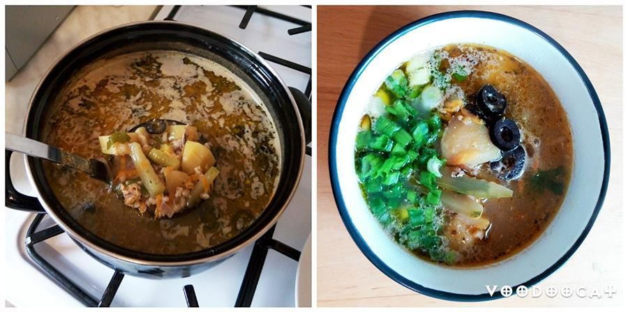 Рецепт рассольника с курицей и оливками пошаговый с фото