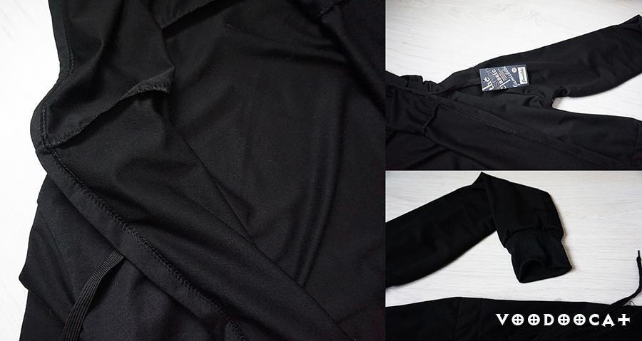 Черная мантия с большим капюшоном с Aliexpress
