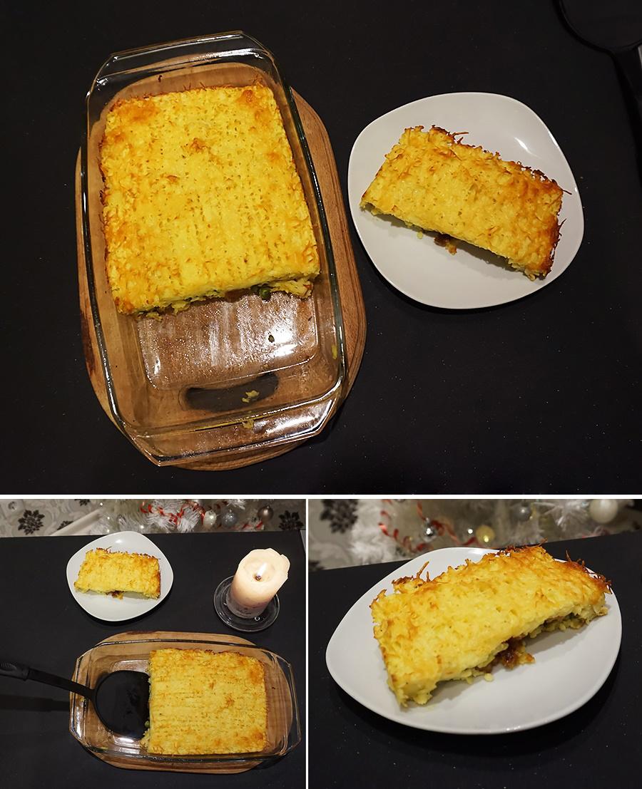 Пастуший пирог с свининой и зеленым горошком рецепт пошаговый с фото