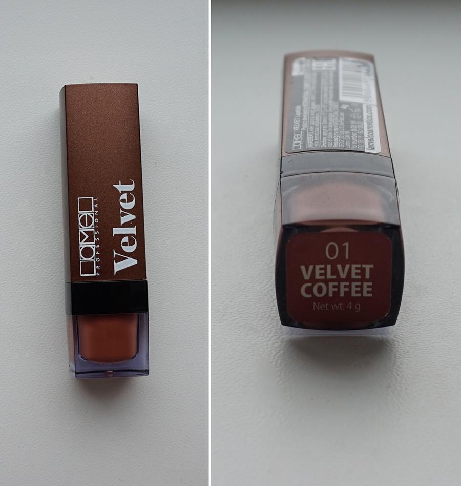 Матовая помада Lamel velvet 01 velvet coffee отзыв с фото