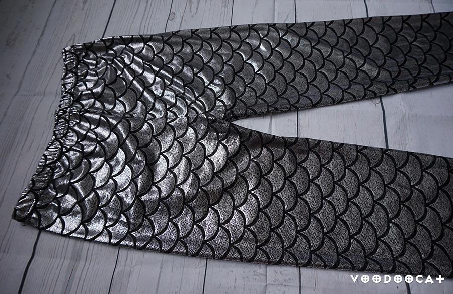 Леггинсы с принтом рыбья чешуя с Алиекспресс
